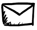"""Drawn email icon"""